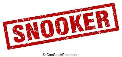 square grunge red snooker stamp