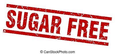 square grunge red sugar free stamp