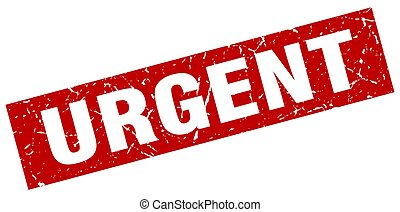 square grunge red urgent stamp