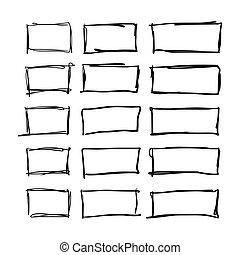 Square hand drawn set