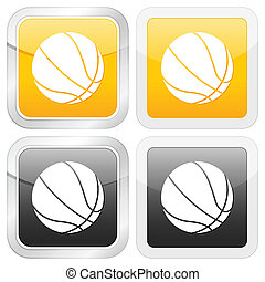 square icon basketball