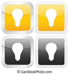square icon bulb