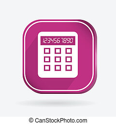 Square icon, calculator