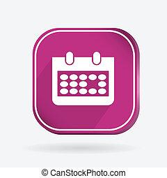 square icon, calendar