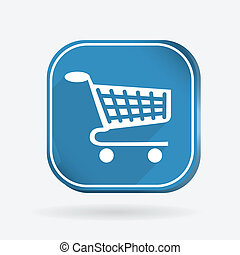 square icon, cart online store