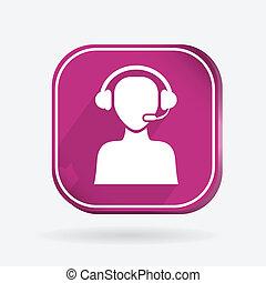 square icon, customer support