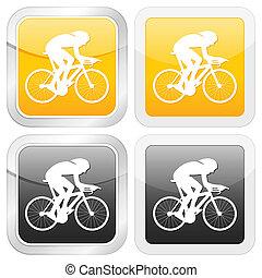 square icon cyclist