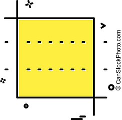 Square icon design vector