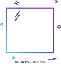 Square icon design vector