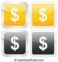square icon dollar