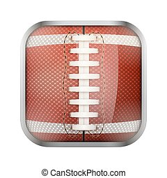 Square icon for american football app or games