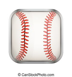 Square icon for baseball app or games
