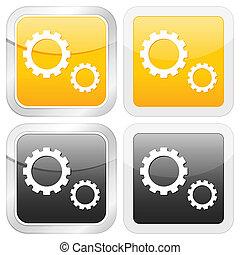 square icon gear