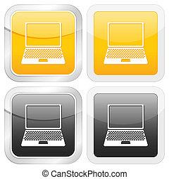 square icon laptop