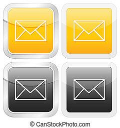 square icon mail
