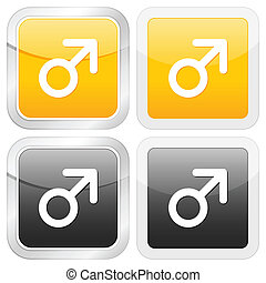 square icon man symbol