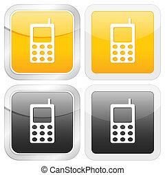 square icon mobile phone