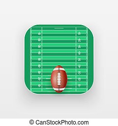 Square icon of American Football sport