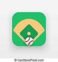 Square icon of baseball sport