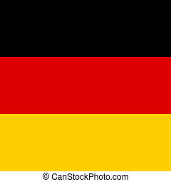 Square icon of Germany flag