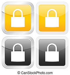 square icon padlock