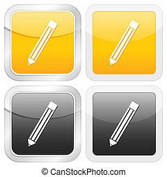 square icon pencil