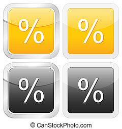 square icon percentage