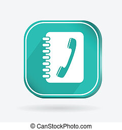 square icon, phone address book