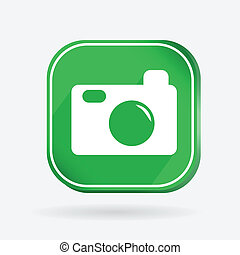square icon, photo camera