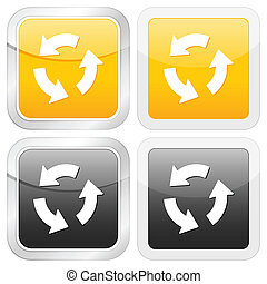 square icon recycle