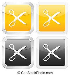 square icon scissors