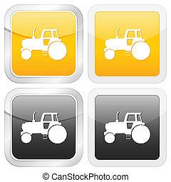 square icon tractor