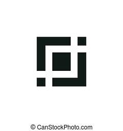 square icon vector illustration
