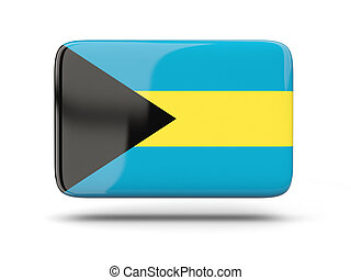 Square icon with flag of bahamas