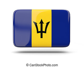Square icon with flag of barbados