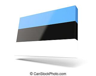 Square icon with flag of estonia