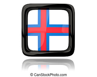Square icon with flag of faroe islands