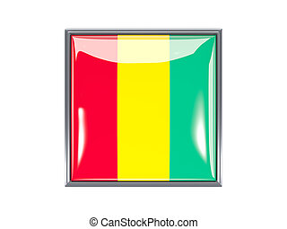 Square icon with flag of guinea