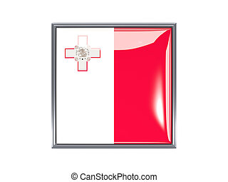 Square icon with flag of malta