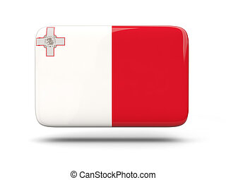 Square icon with flag of malta