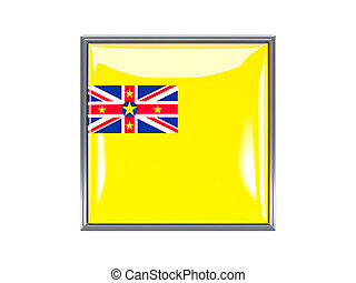 Square icon with flag of niue