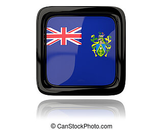 Square icon with flag of pitcairn islands