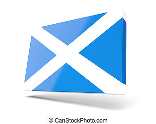 Square icon with flag of scotland