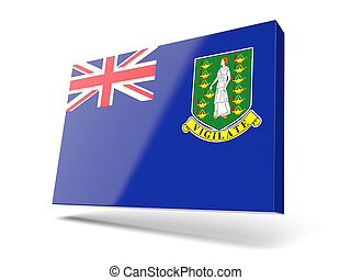 Square icon with flag of virgin islands british