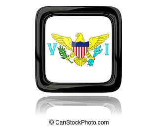 Square icon with flag of virgin islands us