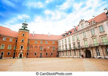 Square in Royal Castle, Warsaw - Square in Royal Castle at...