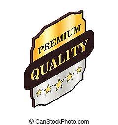Square label premium quality icon