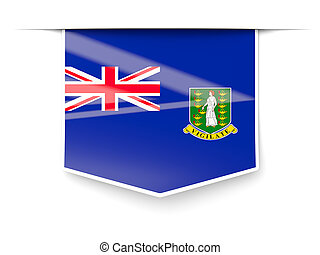 Square label with flag of british virgin islands