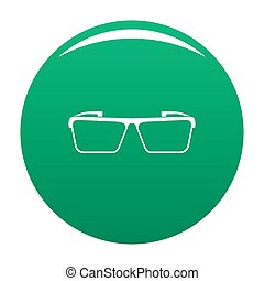 Square lens icon green