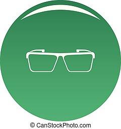 Square lens icon vector green